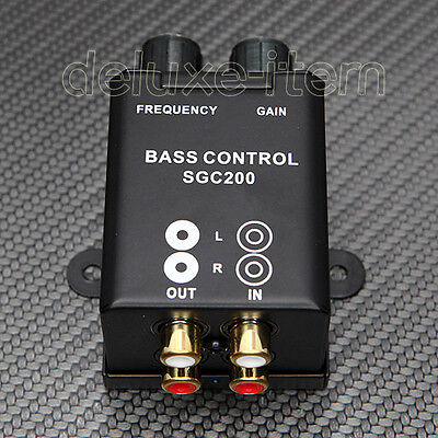 Car / Home Amplifier Subwoofer Bass RCA Stereo Line Level Volume Amp / Booster