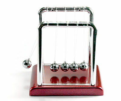 Newtons Classic Cradle Kinetic Balls Executive Educational Toy Office Desk WO71