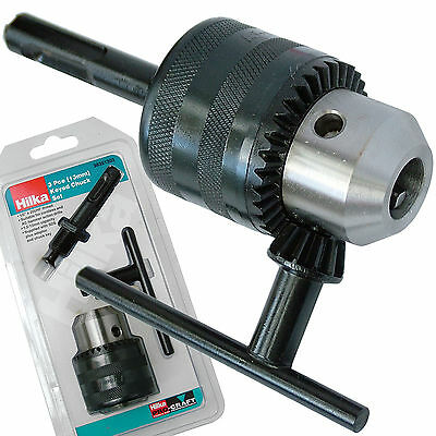 "13mm 1/2"" UNF Drill CHUCK with SDS Shaft Adaptor and Chuck Key by Hilka"