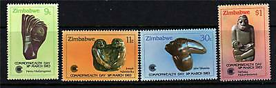 Zimbabwe 1983 Commonwealth Day SG 622/5  MNH