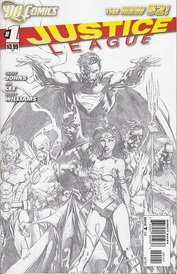 Justice League #1 1:200 Sketch Variant New 52 First Print Very  Rare 1St