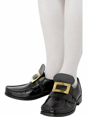 Colonial Pilgrim Shoe Buckles Black Gold Colonial Costume Shoe Buckles 20252
