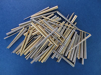 Assorted Pack 100 pcs BRASS & STEEL Tapered CLOCK PINS 25mm Antique Clock Repair • EUR 13,67