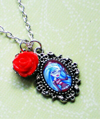 Monster High Glass Character Charm Necklaces - Frankie Stein, Clawdeen Wolf