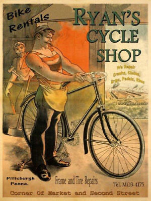 POSTER GIRL BICYCLE CYCLES TERROT TUNNEL DIJON TRAIN BIKE VINTAGE REPRO FREE S//H