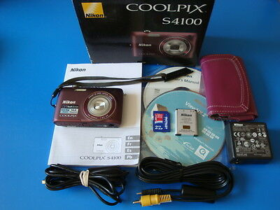 NIKON COOLPIX S4100 14.0MP 4X OPTICAL ZOOM DIGITAL CAMERA