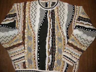 KALAROO earthy vtg trail sweater 1970s XL Australian outback stripes
