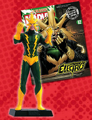 FIGURA DE PLOMO MARVEL FIGURINE COLLECTION 62 ELECTRO + REVISTA