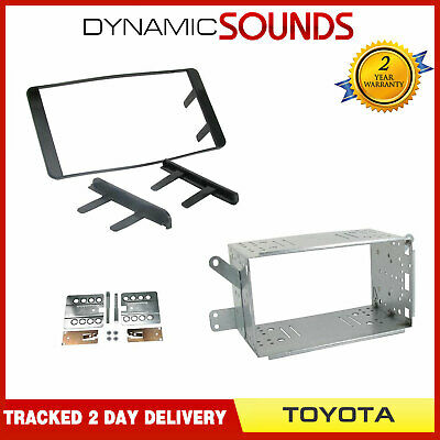 CT23TY03 Double DIN Car Stereo Black Fascia Fitting Kit For TOYOTA HILUX 07-12