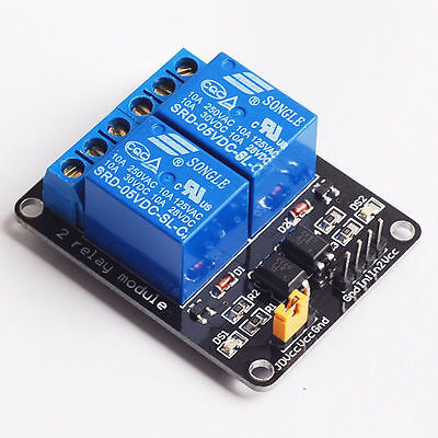 2 Pcs  5V 2-Channel@10Amp Relay Module , With Leds For Output Status