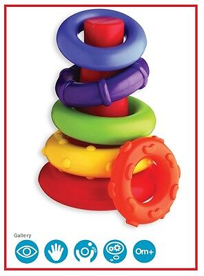 New Playgro Rock n Stack Teething Ring Baby Toy 6m+ Brain Development