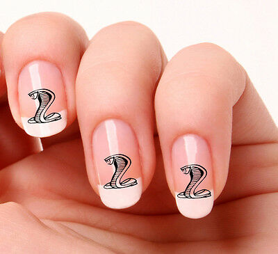 20 Nail Art Decals Transfers Stickers #336 - Snake Cobra