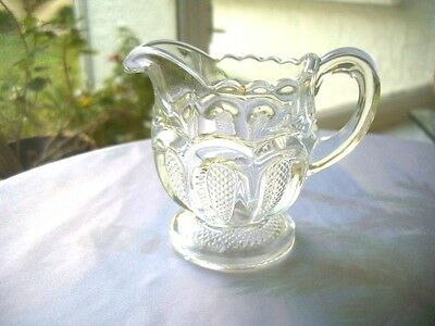 U.S. Glass Texas Pattern aka Loop with Stippled Panels Childs Toy Creamer
