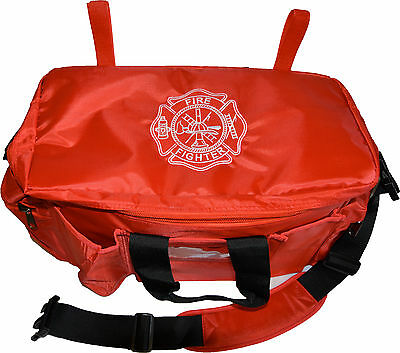 FIRE FIGHTER EQUIPMENT BAG ... RED  (police equipment style bag)