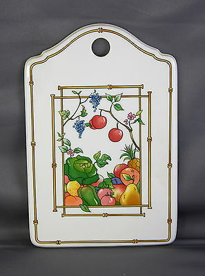 "Villeroy & Boch ""Mon Jardin"" Porcelain Decorative Cheese Cracker Board Vintage"