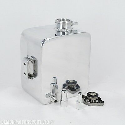 Polished Alloy 2 Litre Water Header Expansion Tank 11mm & 15mm + Cap