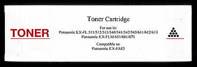 New KX-FA83 Fax Toner Cartridge for Panasonic KX-FL611 KX-FL612 KX-FL613