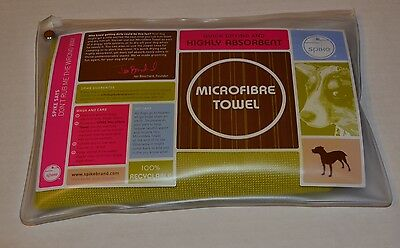 NIP SPIKE Brand Microfiber Dog Towel Quick Drying Highly Absorbent RECYCLED