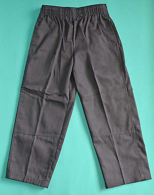 NEW school uniform trousers double knee pants Grey size 5,6,7,8,10,12,14,16