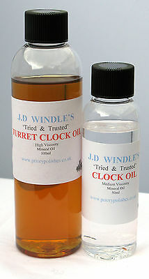 2 Bottles Windles Clock Oils - for all mechanical clocks.
