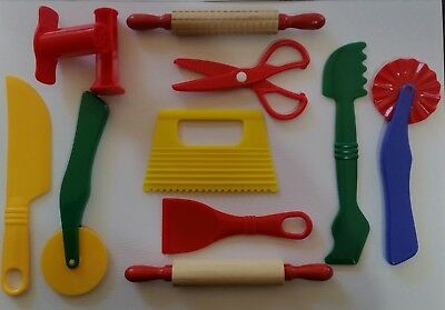 Playdough Fun Dough Clay Playdoh Accessories Tools Extruders Cutters Food Colour