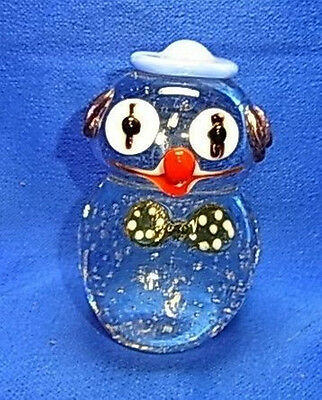 Vintage Italy Murano Art Glass Clown Figurine Paperweight #CB