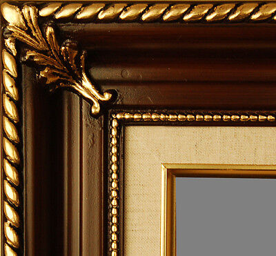 PICTURE FRAME WOOD WALNUT GOLD ORNATE PORTRAIT ART PHOTO MANY SIZES AVAILABLE!