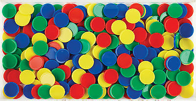 500 Maths Counters 20mm Round Counting Sorting Games Bulk Buy