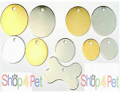 Dog Cat Tag, No-Nonsense BRASS & NICKEL PET ID Tags with or without ENGRAVING