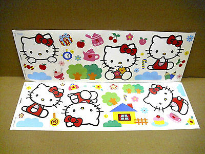 Hello Kitty , Wandaufkleber  Wandsticker Wandtattoo Sticker Decofun Hallo Kitty