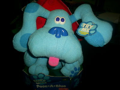BLUE'S CLUES POSE A BLUE STUFFED ANIMAL CHILDREN TOY