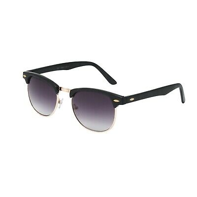 Classic Retro 1980's Vintage Black & Gold Clubmaster Sunglasses Full UV400 A4