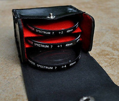 Promaster Spectrum 7 Set of 3 Close-Up Filters 49mm +1, +2, +4 in Case