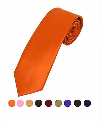 Boys' Solid Multi-Color POLY TIE in 22 Colors (BLS3301)