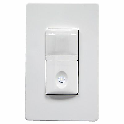 2-In-1 Enerlites HMOS-J Motion Sensor Switch for Home Security & LED Lighting