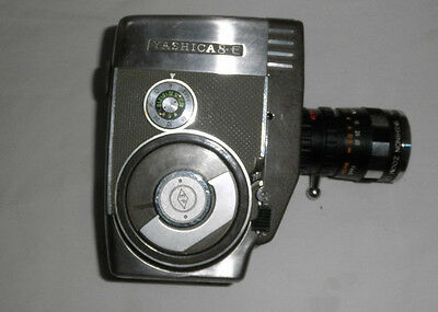 Vintage Yashica 8-E Film Camera 8mm with case EUC