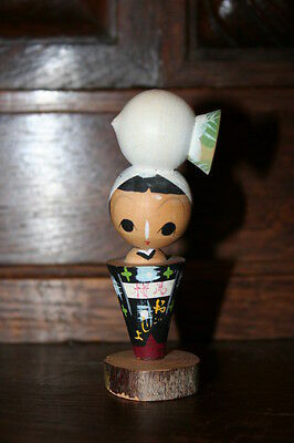 Vintage Kokeshi Doll JAPANESE WOMAN Wood Art Decoration Japan Collectors Antique