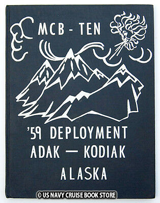 Us Navy Mobile Construction Battalion Ten  1959 Cruise Book Mcb-10 Seabees