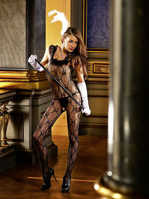 Sexy Lace Bodystocking With Ruffles
