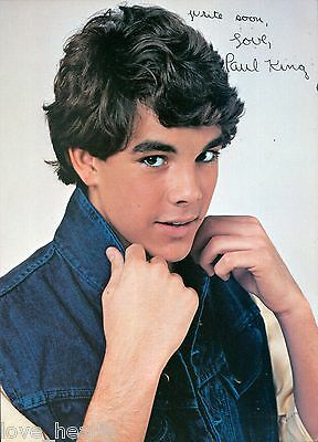 """PAUL KING - TEEN BOY ACTOR - 11""""x8"""" MAGAZINE POSTER PINUP CLIPPING"""