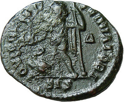 Licinius I AE Follis Jupiter Victory Scepter Authentic Ancient Roman Bronze Coin