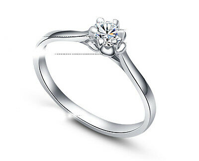 ViVi Ladies Engagement sterling silver  Diamond Ring 8440a gift for her
