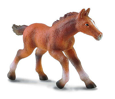 CollectA 88245 Running Chestnut Thoroughbred Foal Toy Model Horse Gift - NIP