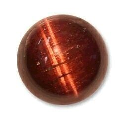 Natural 4mm Round Tigers eye cabochon Red 10 gems lot