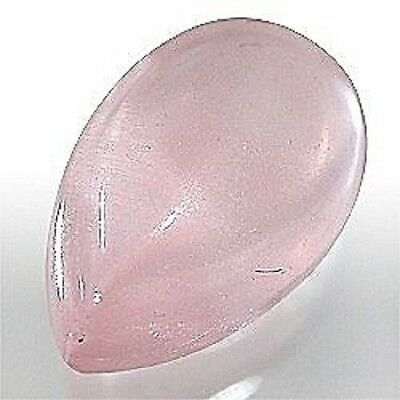 Lot of 10 Natural 7x5mm Roae Quartz flat back Cabochon pear gemstone pink