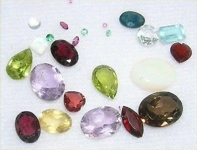 10 carats natural faceted and Cabochon Gemstones Birthstones Stocking Stuffers