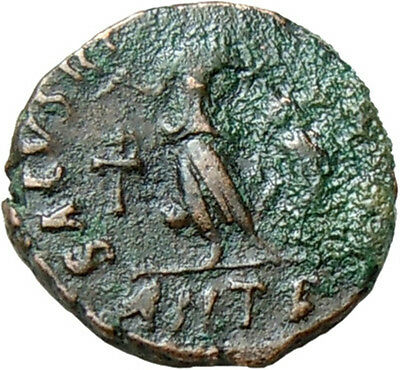 Valentinian II AE 11 mm. Victory. Authentic Ancient Roman Bronze Coin