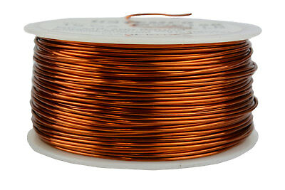 TEMCo Magnet Wire 19 AWG Gauge Enameled Copper 200C 1lb 250ft Coil Winding