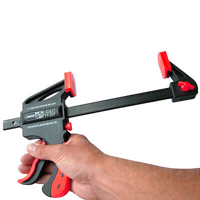 """2 x 150mm 6"""" T Bar Clamps Rapid Ratchet & Quick Release Speed Clamp Spreaders"""