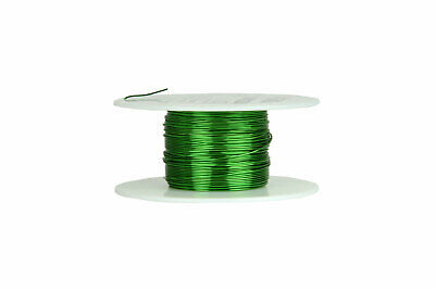 TEMCo Magnet Wire 24 AWG Gauge Enameled Copper 155C 2oz 98ft Magnetic Coil Green